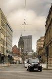 Taxi in het stadscentrum Royalty-vrije Stock Afbeeldingen