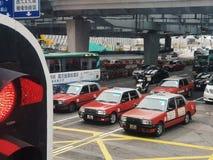 Taxi in Hong Kong lizenzfreie stockbilder
