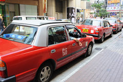 Taxi in Hong Kong Stock Photos