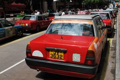 Taxi in Hong Kong. Stock Photos