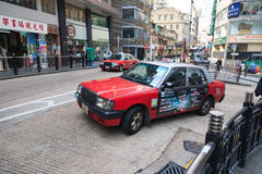 Taxi in Hong Kong fotografie stock