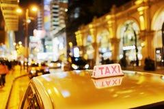 Taxi in Hong Kong. Royalty Free Stock Photo