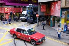Taxi in Hong Kong Stock Photo