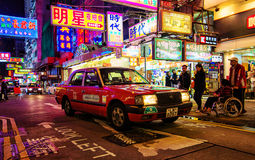 Taxi in Hong Kong Stock Images