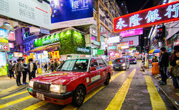Taxi in Hong Kong Stock Image