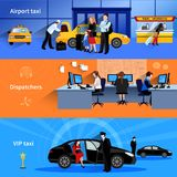 Taxi Horizontal Banners vector illustration