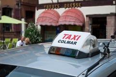 Taxi i Colmar Royaltyfria Bilder