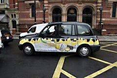 Taxi i London 4 Arkivbilder