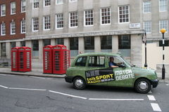 Taxi i London 2 Royaltyfria Bilder