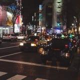 Taxi i Shibuya Japan Arkivbild