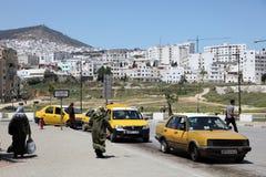 Taxi i Tetouan, Marocko Arkivfoton
