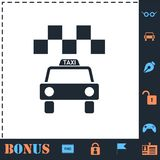 Taxi icon flat royalty free illustration