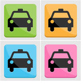 Taxi icon set Royalty Free Stock Photography