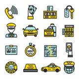 Taxi Icon Set Stock Photo