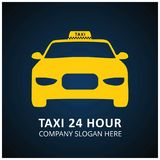 Taxi Icon. Taxi Service. 24 Hour Serrvice. Taxi Car. Blue and Bl. Ack Background. For web design and application interface, also useful for infographics. Vector Stock Photos