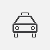 Taxi icon, vector logo, linear pictogram isolated on white, pixel perfect illustration. Royalty Free Stock Images
