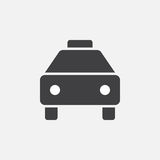 Taxi icon, vector logo, linear pictogram isolated on white, pixel perfect illustration. Stock Images
