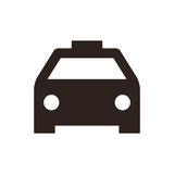 Taxi icon. On white background Stock Images