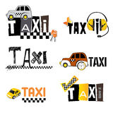 TAXI icons Royalty Free Stock Photos
