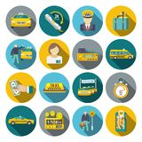 Taxi icons flat set Royalty Free Stock Images