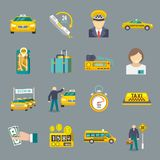 Taxi icons flat set Stock Photography