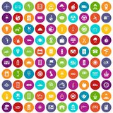 100 taxi icons set color Royalty Free Stock Photos