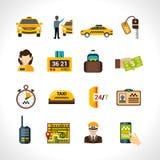 Taxi Icons Set Royalty Free Stock Photos