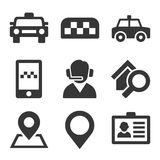 Taxi Icons Set Stock Photography