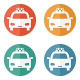 Taxi ikona Fotografia Royalty Free