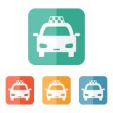 Taxi ikona Zdjęcie Stock