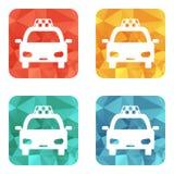 Taxi ikona Obrazy Royalty Free