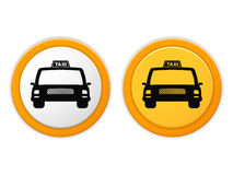 Taxi-Ikonen Lizenzfreie Stockbilder