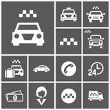Taxi-Ikonen lizenzfreie abbildung