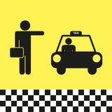 Taxi illusraton Stock Afbeelding