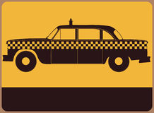 Taxi information plate Stock Images