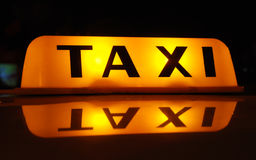 TAXI inscription Royalty Free Stock Photography