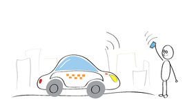 Taxi Internet service Royalty Free Stock Photos