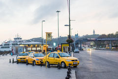 Taxi in Istanbul Stock Photography