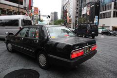 Taxi in Tokyo Royalty Free Stock Image