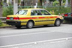 Taxi in Japan Stock Photo