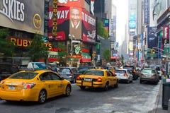 Taxi jaune à New York Photographie stock
