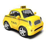 Taxi jaune de bande dessinée Photo libre de droits
