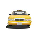 Taxi jaune Isoalted Images stock