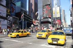 Taxi jaune, NYC Image libre de droits