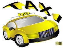 taxi kolor żółty Zdjęcie Stock