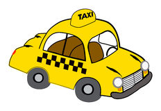 taxi kolor żółty ilustracji