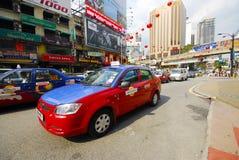 Taxi Kuala Lumpur i Jednoszynowy dworzec Obrazy Stock
