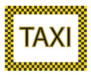 Taxi Label Stock Image