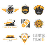 Taxi labels set Royalty Free Stock Photos