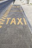 Taxi lane for parking Royalty Free Stock Image